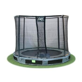 EXIT Toys InTerra Round Trampoline Grey with Safety Net