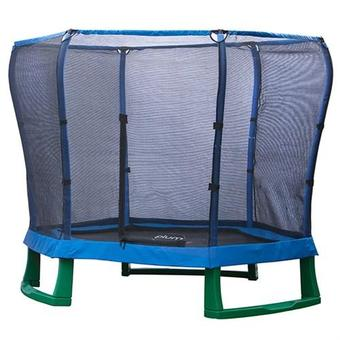 Plum 7ft Junior JumperTrampoline - Blue and Green