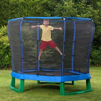 Plum 7ft Junior Jumper Trampoline - Blue and Green