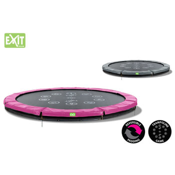 EXIT Toys Twist Ground  Trampoline (Pink/Grey)