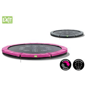 EXIT Toys Twist Ground  Trampoline (Pink/Grey)