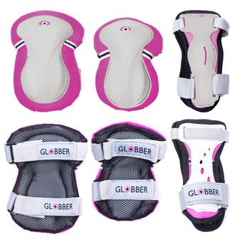 Plum Globber Junior Protective Gear - Pink & White