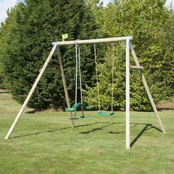 TP Knightswood Double Swing Set 2