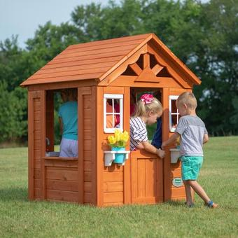 Backyard Discovery Timberlake Playhouse with FREE 24 Inch Playmats!