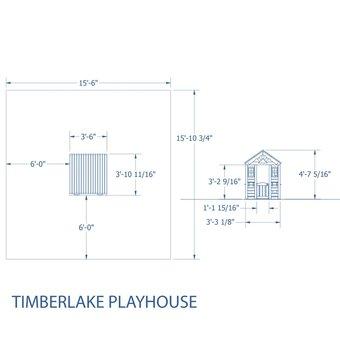 Backyard Discovery Timberlake Playhouse with FREE Chalkboard Kit!
