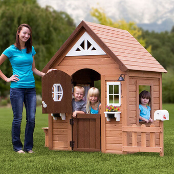 Backyard Discovery Aspen Playhouse with FREE Chalkboard Kit!