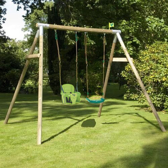 TP Double Knightswood Swing Set 5