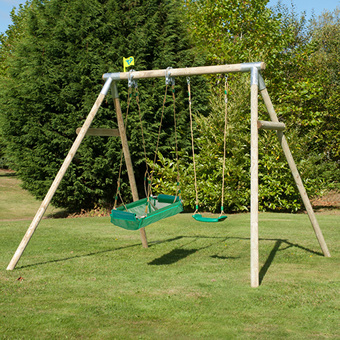 TP Double Knightswood Swing Set 6