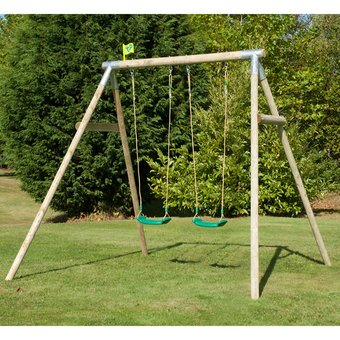 TP Double Knightswood Swing Set 7