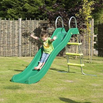 TP Green Crazywavy Slide & Stepset