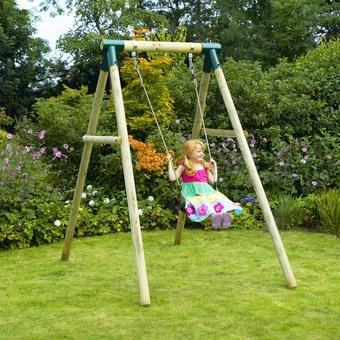 Plum Bush Baby Wooden Swing Set
