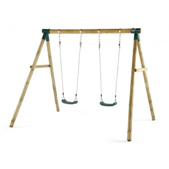 Plum Marmoset Wooden Pole Swing Set + FREE Protektamat Black (Pack of 2)