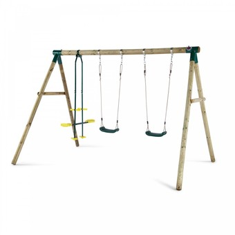 Plum Colobus Wooden Pole Swing Set with FREE Protektamats!