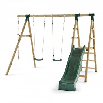 Plum Giant Baboon Wooden Garden Swing Set + FREE Protektamat Black (Pack of 2)